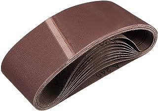 """3""""x 18"""" 240 kornslipbälte Aluminiumoxid sandpappersbälten för bärbar rems slipmaskin träfinish metall gips polering slipni..."""