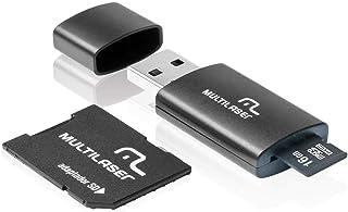 Adaptador 3x1 SD + Pendrive +Cartão De Memória Classe 10 16GB Preto Multilaser - MC112