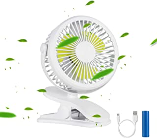 Clip on Fan, Mini Desk USB Fan Handheld Powered by Rechargeable Battery Operated or USB, Small Portable Air Circulator Fan for Baby Stroller Car Laptop Table Camping Outdoors Home Office