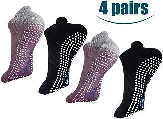 Calcetines de yoga antideslizantes con agarres, pilates antideslizantes, barre, bikram para hombres y mujeres