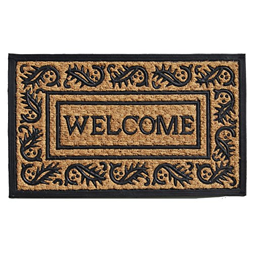 """Home & More 280021830 Border Welcome 18"""" X 30"""" Coir and Rubber Doormat"""