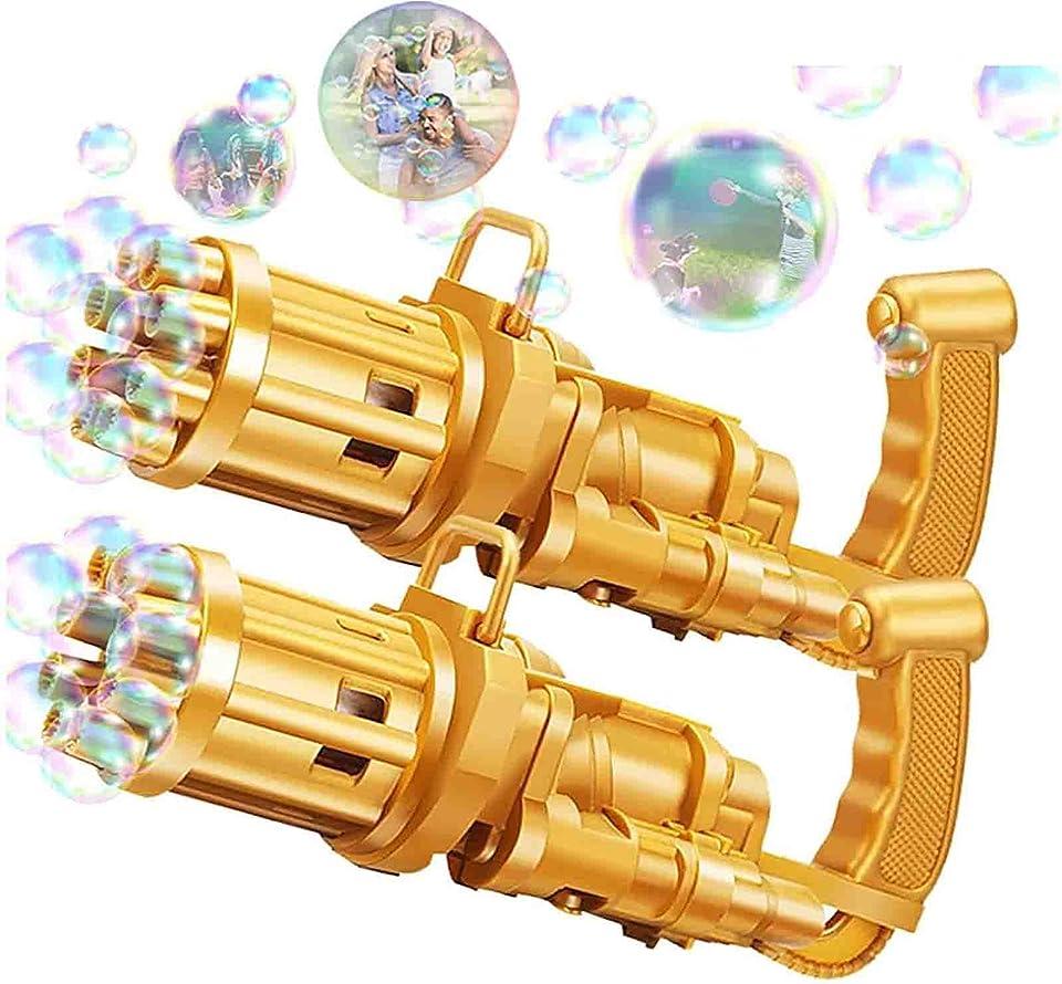 2PC Automatische Seifenblasenmaschine Musik-Bubble-Maschine Seifenblasen Maschine Fun Bubble Toy für Jungen Mädchen Indoor-Outdoor-Spiele