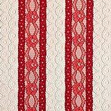 Fabulous Fabrics Spitze rot, Kreis, 140cm breit –