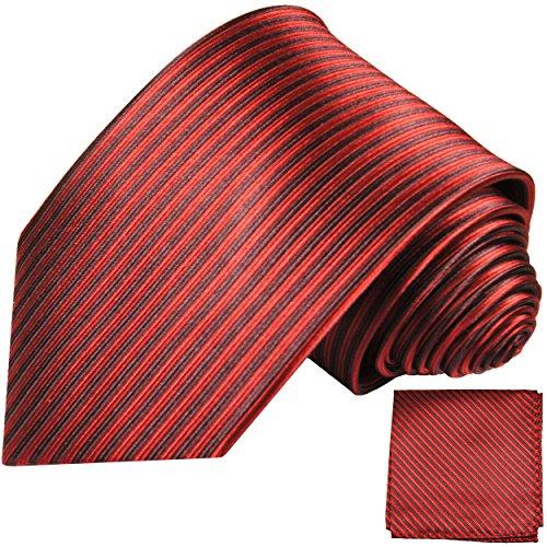 Cravate homme noir rouge rayée ensemble de cravate 2 Pièces ( longueur 165cm )