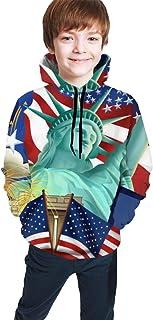American Independence Day Kids/Teen Girls' Boys' Hoodie,3D Print Pullover Sweatshirts