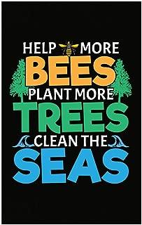 Custom Chimp Help More Bees Plant More Trees Clean The Seas Beekeeper Honey Bee Apiarist - Poster