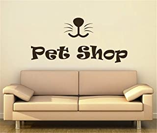 Fielr DIY Removable Vinyl Decal Mural Letter Wall Sticker Petshop Animal Waterproof Window Decals Cute Puppy Grooming Salon Decor Interior