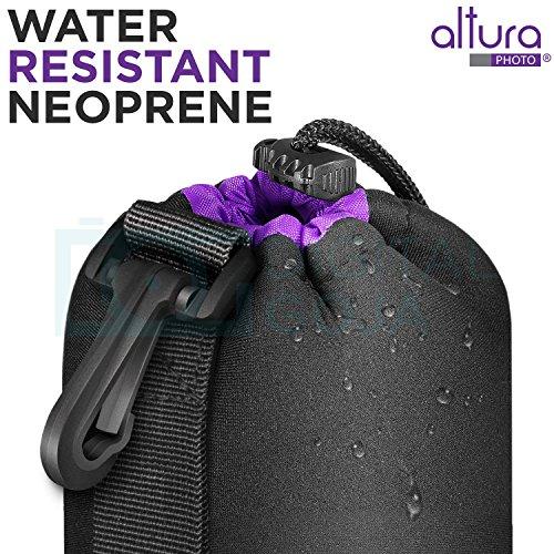 Altura Photo Large Neoprene Pouch Bag for DSLR Camera Lens (Canon, Nikon, Pentax, Sony, Olympus, Panasonic)