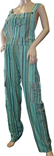Nebula Funky Striped Cotton Combat Dungarees - Nepalese Brightly Coloured Dungarees