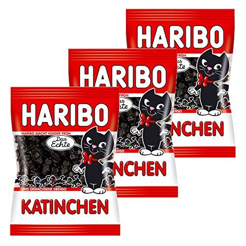 Haribo Katinchen, 3er Pack, Lakritz, Süßigkeit, Nascherei, Im Beutel, Tüte, 200 g