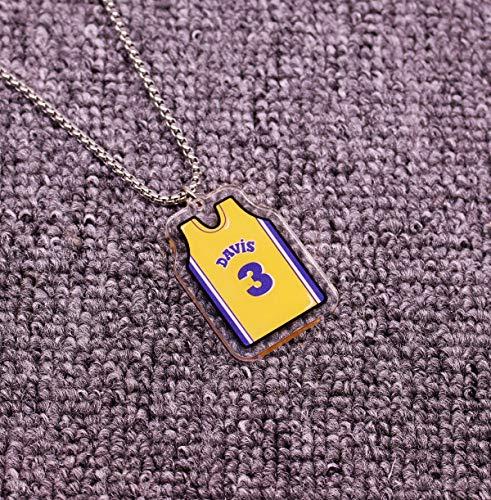 ANLW NBA All-Star Kobe Collar/Jordan // Antetokounmpo Colgante de acrílico sólido Cabeza Colgante de Hip Hop, Aficionados de la NBA de Baloncesto,Davis