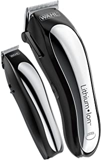 Wahl Clipper Lithium Ion Cordless Haircutting & Trimming Combo Kit – Rechargeable..