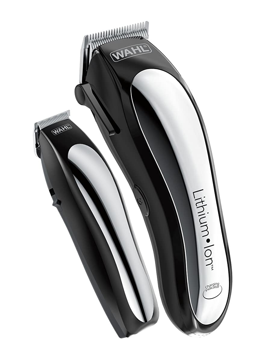 紛争モールス信号定常Wahl Clipper Lithium Ion Cordless Rechargeable Hair Clippers and Trimmers for men,Hair Cutting Kit with 10 Guide Combs... Wahl