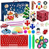 2021 Advent Calendar with 24 Surprises That Include Scale Vehicles & Other Cool Accessories, Plus a Play Pane Mat, for Collectors & Kids (D Fidget toys)