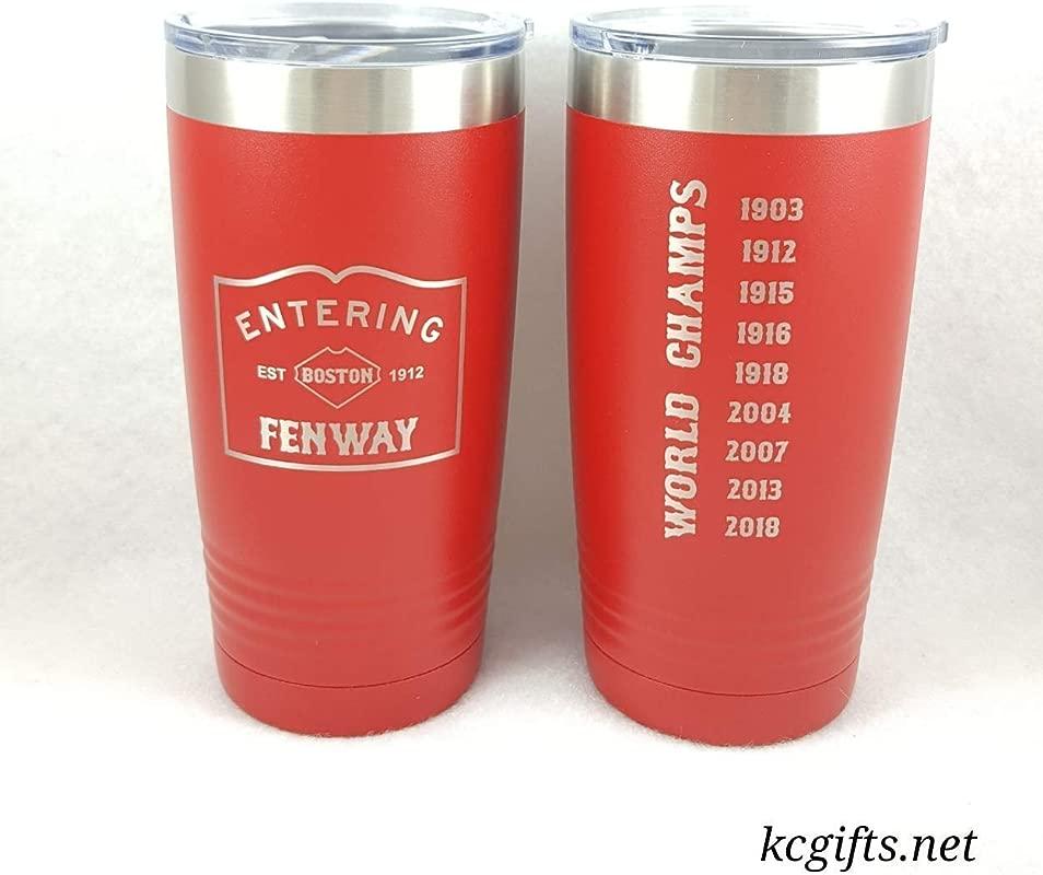 Personalized Insulated Travel Mug FENWAY Design Polar Camel Or YETI Rambler Insulated Mug ENGRAVED Not A Decal
