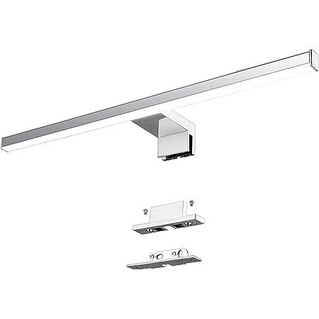 Lampe pour Miroir LED Salle de Bains Azhien 10W 820lm 230V 600mm Blanc Neutre 4000K Lampe Miroir Applique Murale Intérieure Moderne Luminaire Salle de Bain IP44 60cm