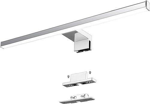 Lampe pour Miroir LED Salle de Bains Azhien 10W 820lm 230V 600mm Blanc Neutre 4000K Lampe Miroir Applique Murale Inté...
