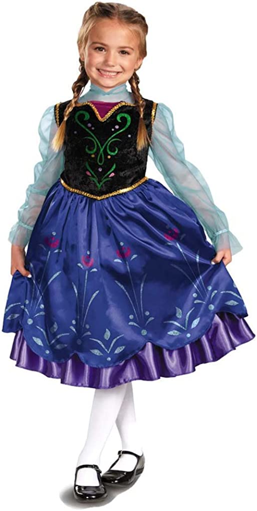 Disguise El Paso Mall Girls' Anna Deluxe Medium SEAL limited product Costume