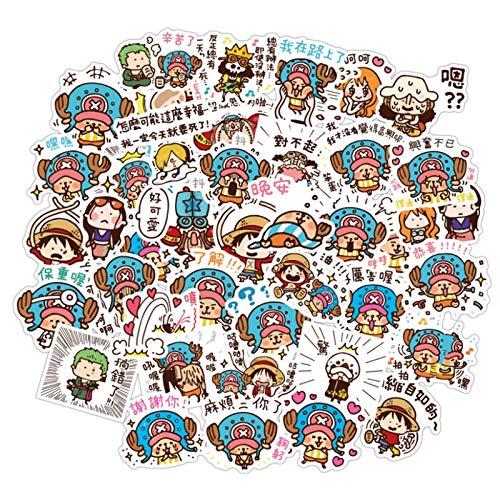 100PCS 10/30 / 50pcs Anime One Pieza Mujer CUENDO Linda Cuenta DE COMENTARIO DE Cubierta DE Cuadrada DE Cuadrada PINTADORA DE Graffiti estéticas (Color : 10PCS)