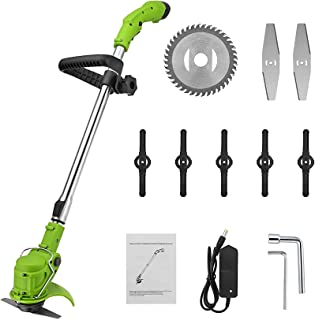 12 V Cordless Grass Trimmer/Cordless String Trimmer/Electric Lawn Trimmer/for Weed-Wacking with Telescopic Pole Replace Blade