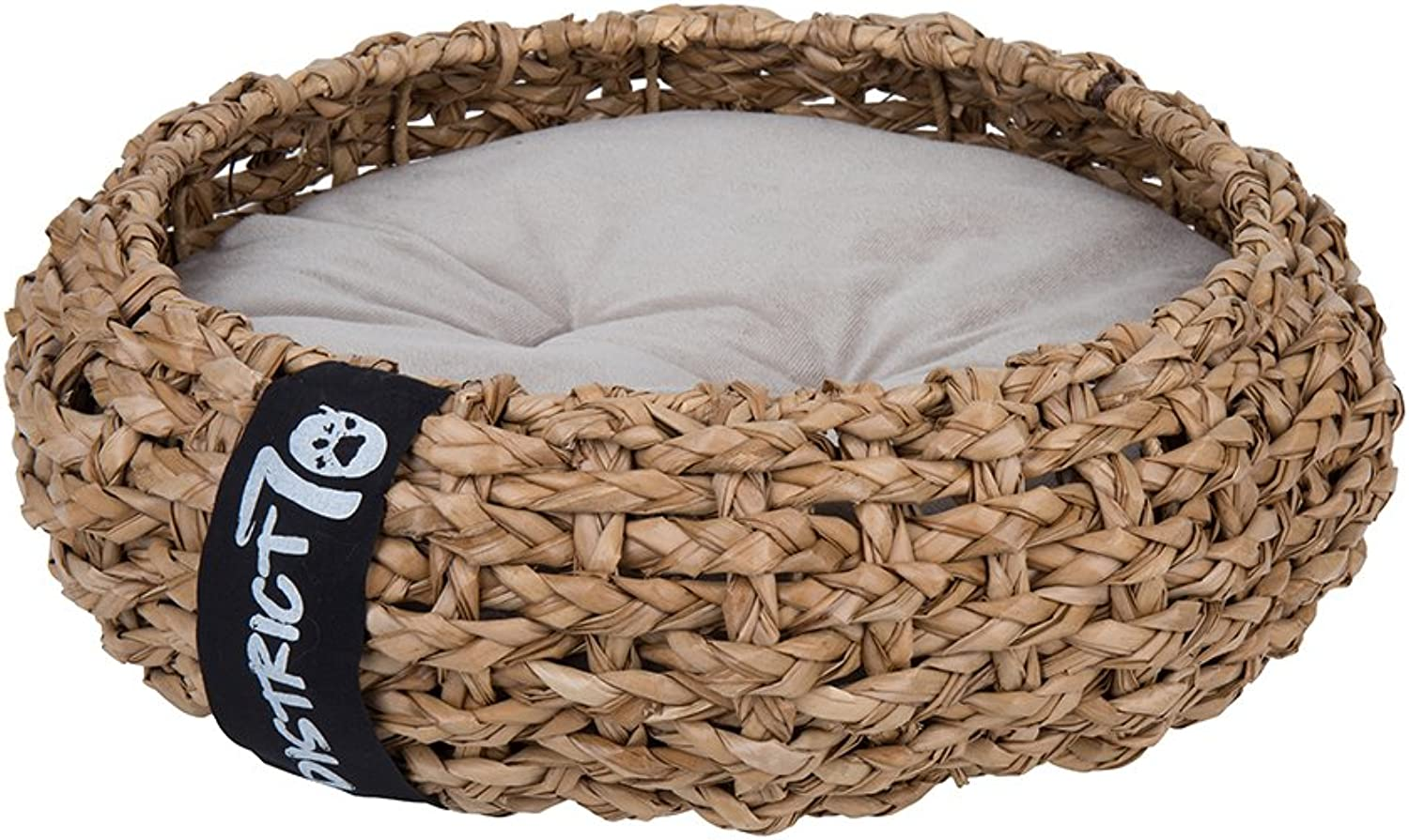 District 70 Cocoon Cat Bed and Dog Bed, 40 x 40 x 15 cm, Size, S,  Brown