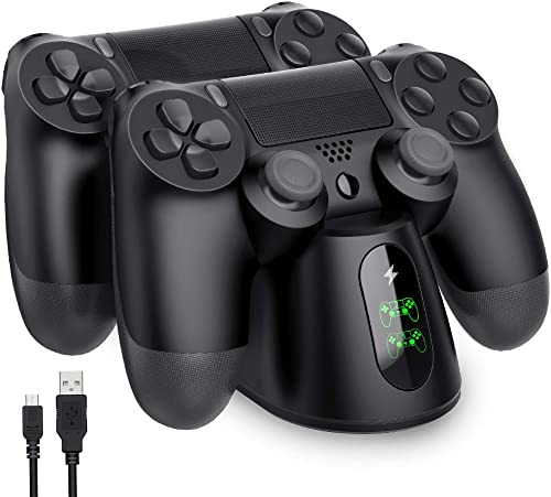 PS4 Controller Charger, BEBONCOOL PS4 Charging Station with Dual Charging Ports, PS4 Controller Charger Station for P...