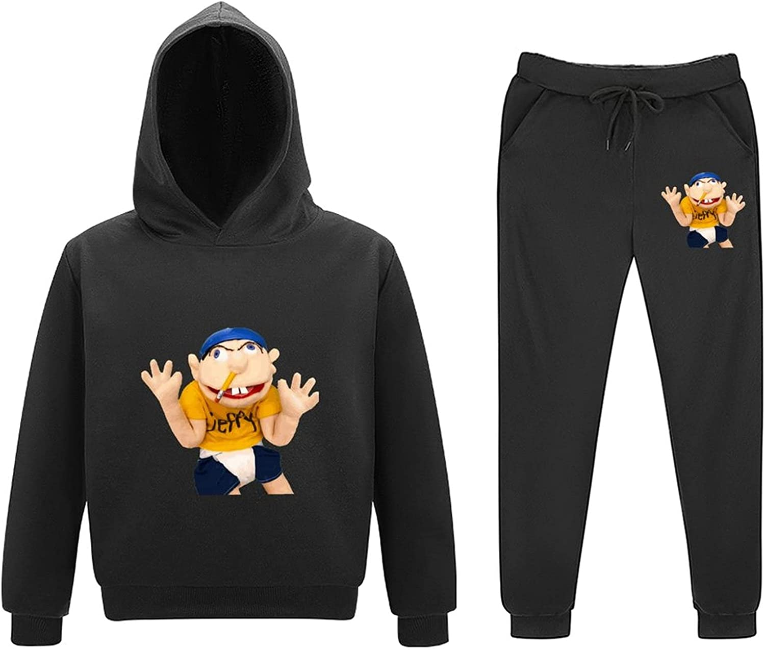 Sm-l Jef-fy Limited price sale Youth Sweater Set Max 45% OFF Sports Hooded Anime Casual Fashion