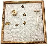GIARDINO ZEN DA TAVOLO 25x25 2cm di legno massello ZEBRANO striato lavorato artigianalmente fatto a mano - Prodotto di Qualita'