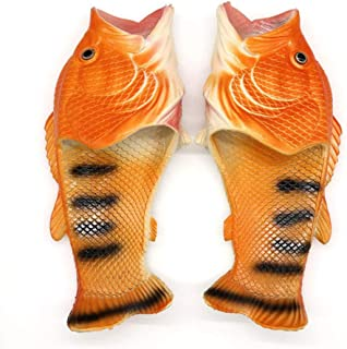 YXX Classic Slide,Zapatillas con Forma De Pez para Hombres, Sandalias De Playa Zapatillas De Playa Resbalón En Jardín Zapa...