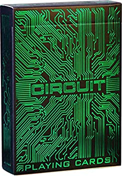 Circuit Neon Green Playing Cards with Free Card Game eBook Creative Deck of Cards Premium Card Deck Cool Poker Cards Unique Bright Colors for Kids & Adults Computer Themed Black Playing Cards