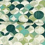 Stoffe Werning Dekostoff Kringelstern Muster grün