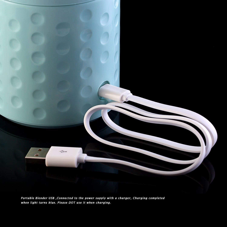 YZHM Exprimidor portátil, de Carga USB Exprimidor eléctrico - Resina ABS + PP + Silicone, Cocina de múltiples Funciones Mini Exprimidor, Rosa,Blanco Rosado