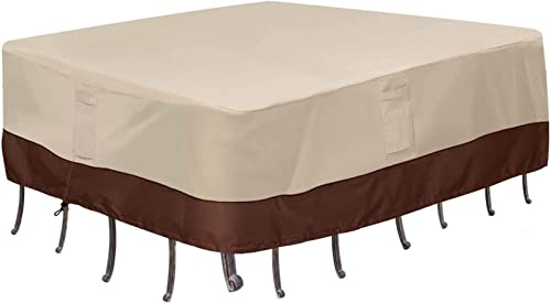 Vailge Waterproof Patio Furniture Set Cover, Lawn Patio Furniture Cover with Padded Handles, Patio/Outdoor Table Cove...
