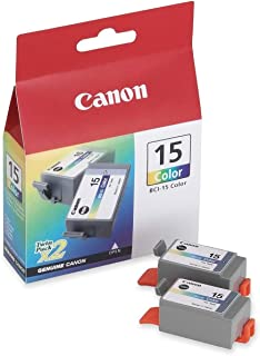Canon BCI-15CL 8191A003 i70 i80 Pixus 50 80 Ink Tank (Color, 2-Pack) in Retail Packaging