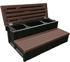 Confer Plastics Outdoor Spa Storage Steps Espresso