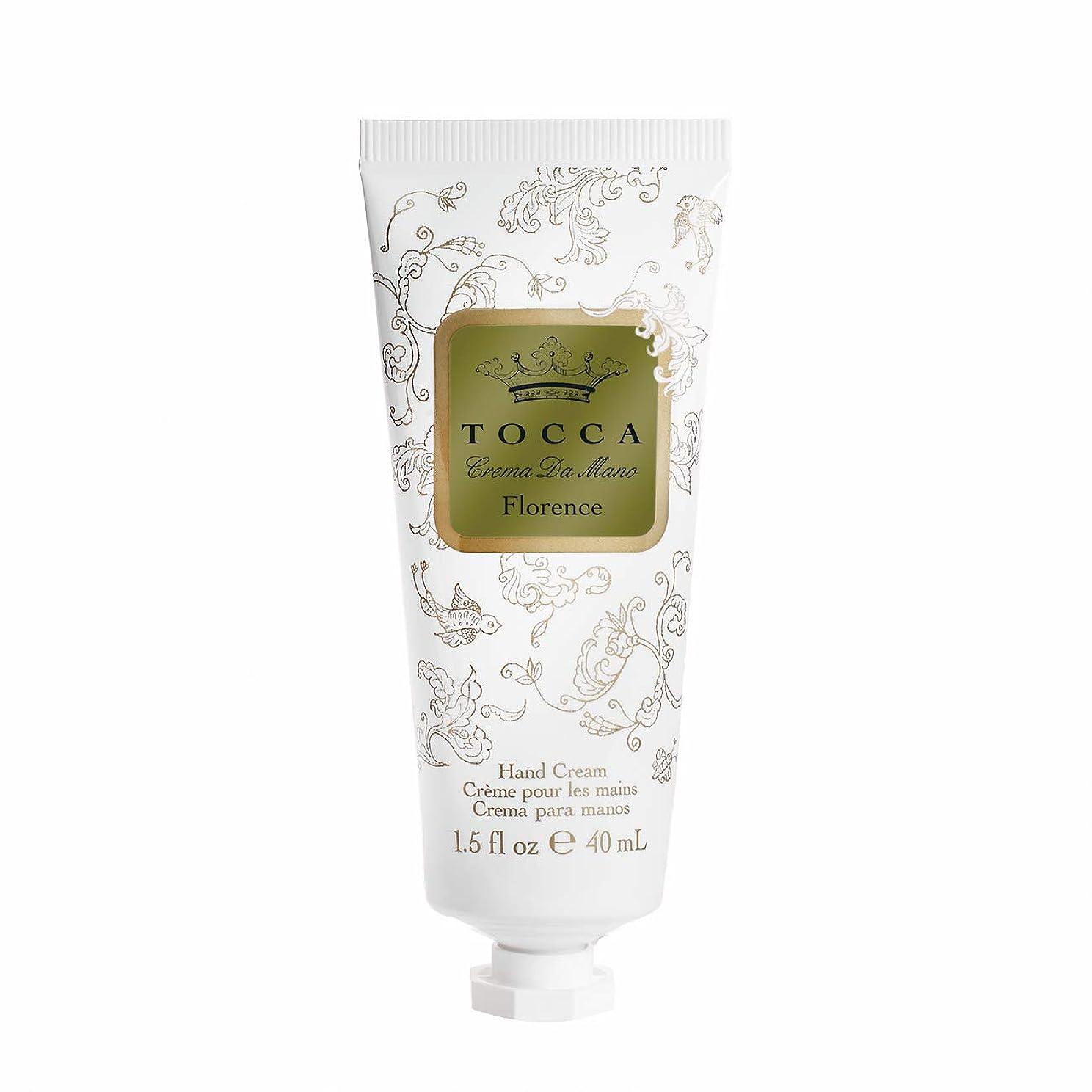 嵐の忌避剤破裂トッカ(TOCCA) ハンドクリーム フローレンスの香り 40mL (ガーデニアとベルガモットが誘うように溶け合うどこまでも上品なフローラルの香り)