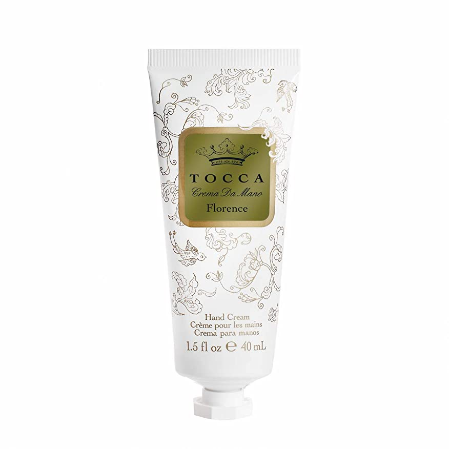 高尚な望ましい受粉者トッカ(TOCCA) ハンドクリーム フローレンスの香り 40mL (ガーデニアとベルガモットが誘うように溶け合うどこまでも上品なフローラルの香り)