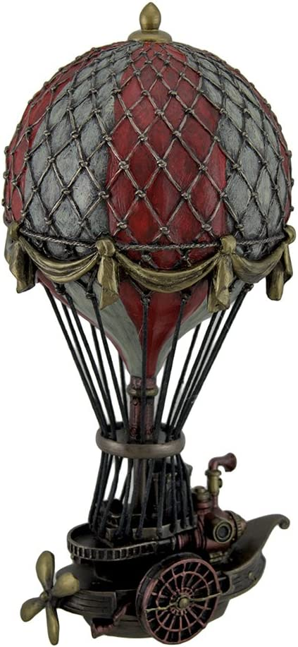 Veronese Design Hand Painted Steampunk S Fantasy Air Balloon Award-winning store Hot Max 56% OFF