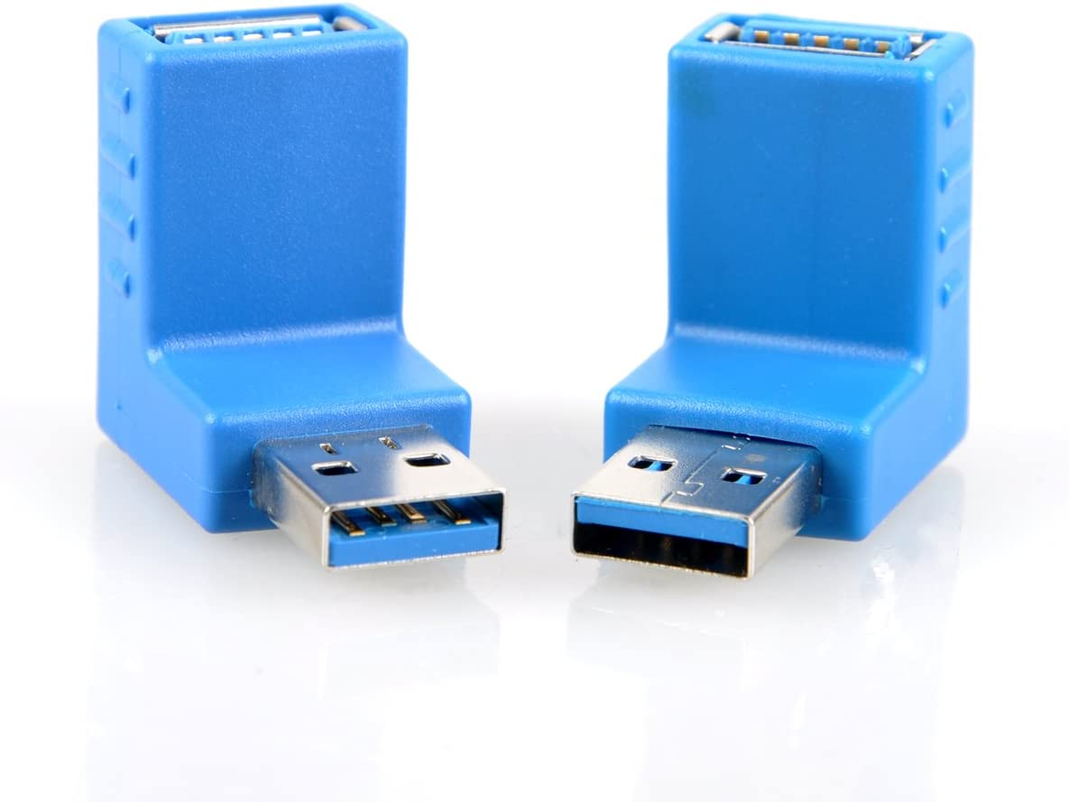 UCEC USB 3.0 Adapter - Up and Down Angle Type A Male to Female - Pack of 2