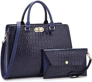 Women Fashion Handbags Tote Purses Shoulder Bags Top Handle Satchel Purse Set 2pcs