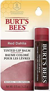 Burt's Bees Tinted Lip Balm - Red Dahlia- the Botanical Waxes in these softly tinted balms will take your lips to lovely in one pretty swipe