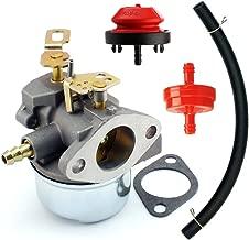 QAZAKY Carburetor with Gasket Fuel Filte Line for Tecumseh 640349 640052 640054 640058 640058A HMSK80 HMSK85 HMSK90 HMSK100 HSMK110 LH318A LH358SA 8HP 9HP 10HP Snowblower Generator Chipper Shredder