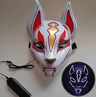 LJFG Halloween LED Mask Glow Fox Mask Christmas Ball Costume Party Role Playing-Purple