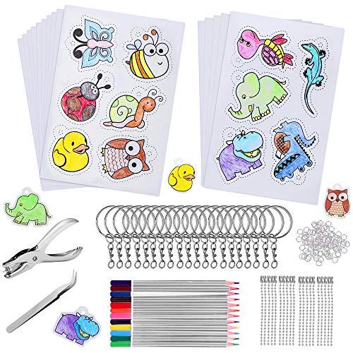 169 Pcs Plástico Mágico Shrink Plastic, incluyen 15 Piezas Papel Retráctil de...