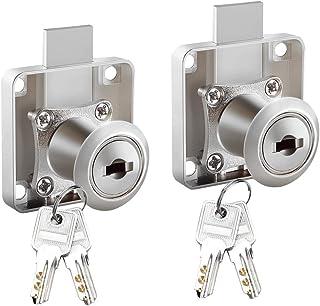 Mila-Amaz 2 Pcs Serratura Cassetto Locks Adatto per Cassetta Postale, Cassetto, Armadietto, Armadio, Cassetta Postale e Co...