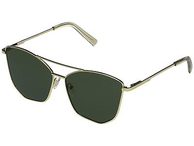 Le Specs Primeval Alt Fit (Bright Gold/Khaki Mono) Fashion Sunglasses