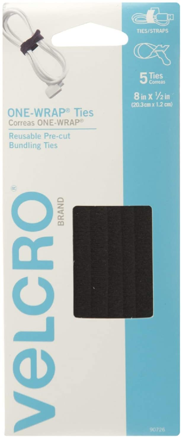 VELCRO Brand ONE-WRAP Bundling Strap – Reusable Fasteners for Keeping Cords and Cables Tidy - 8