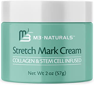 M3 Naturals Stretch Mark Cream Infused with Collagen and Stem Cells – Prevent, Fade and Reduce the Appearance of Stretch M...