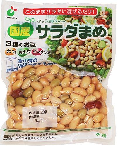 国産 サラダまめ(大豆・青大豆・インゲン豆) 120g×4袋   ポッキリ!セット
