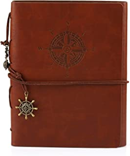 Leather Writing Journal Notebook Notepad Travel Diary A5 14.8 * 21cm